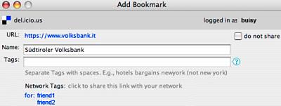 Bookmarks mit Del.icio.us verwalten